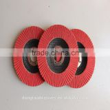 100 RED RECERMIC FLAP DISC WITH FIRBER GLASS