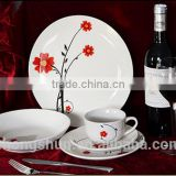 Indian heat resistant white crockery coupe shape 20pcs 30pcs Porcelain dinner sets                                                                         Quality Choice