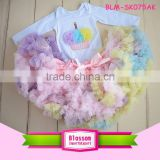 Birthday boutique Cotton Baby Clothes set baby pettiskirt with T shirt