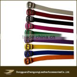 Popular high quality candy color baseball belt