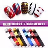 DIY Nail stiker Rolls Waves Striping Tape Line Nail Art Tips Deco Sticker gold and silver silk ornament painting line