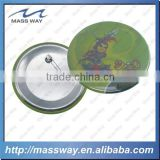 promotional printing funny cartoon tin button badge