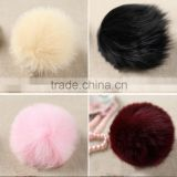 Gift Genuine Fox Fur Bag Accessories / Fox Fur Pom Poms / Ball Fur Chain
