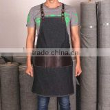 Custom high quality work apron denim and leather