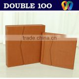 leather album photo book with case for child or wedding