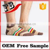 men boat cotton ankle socks for sport with country flag