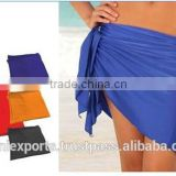 2015 swimwear & beachwear Sarongs printed, colored dyed yarn dyed sarongs