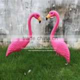 Plastic Material and Ornaments Type home and garden decoration Flamingo for yard lawn Bird animal art decoration
