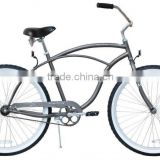 "26"" Adult Beach Cruiser MattGrey Bike beach bicycle beach chopper"