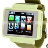 "GSM Quadband Watch Mobile Phone,1.8""Touch LCD,0.3MP Camera,with Flashlight,Compass,Bluetooth,FM,MP3"