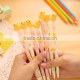 Students promotional gifts DIY creative stationery kids personalized gel pen lovely mini Rubber Duck cap ball point Novelty pen