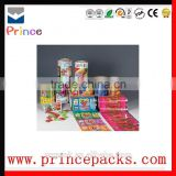 Plastic food packaging film printing film roll for cake/bresd/biscuit/candy/coffee/sugar