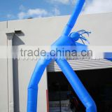8m high two legs inflatable air dancer,blue air dance man F3019