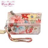 Hot Selling Candy Flowers Japanese Style Coin Purse with belt / pouch