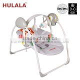 Removable battery baby cradle swing with charger and mosquito net
