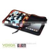 Black Color 9.7 inch Tablet Case for Notebook USB Flash Drive Cable Organizer Bag Tablet Pouch