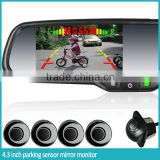 car rearview mirror radar detecter system+4.3inch digital mirror + reverse camera display for any car