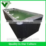 2016 hot sales for guardian swim spa(JY8602)/air jet outdoswimming spa With Customize waterfalls swimming pool