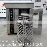 16 trays Stainless steel rotary oven, bakery machine gas oven industrial baking oven toaster oven