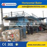 Automatic horizontal baler for waste paper/cardboard/plastic bottle ,hydraulic waste paper baling machine