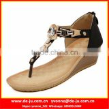 Spikes Latest Fashion Clip Toe Flat Sandals