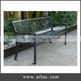 Arlau Metal Outdoor Street Bench,Ornamental Iron Garden Bench,Wrought Iron Park Bench Garden Chair