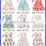 Latest Children Dress Designs Cheap Design Kids Muslim Dress With Match Knot Headband Beautiful Baby Girl Casual Summer Dresses