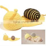 Newborn Snail Design Knitted Hat Cute Baby Kids Crochet Boutique Caps Winter Baby Clothes