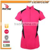 BEROY wholesale women running T-shirt for Gym with Zipper Collar