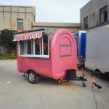 TELESCOPE deep fryer mobile food trailer crepe fast food cart hot dog street mobile food truck with awning
