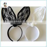 Girls Party Fancy Dress Sexy Lace Rabbit Bunny Ear Headbands HPC-0707