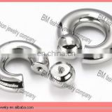 G23 00g Steel Screw on Ball Ring Internally Threaded BIG gauge body piercing jewelry rings