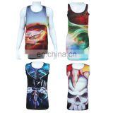 100 cotton fabric for tank top / stringer tank top custom