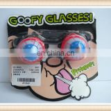 kids Plastic crazy party goofy glasses toy,spectacles toy