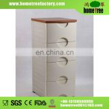 4 drawers plastic storage cabinet