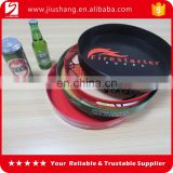 Different styles round plastic bar serving trays