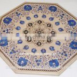 Beautiful Marble Inlay Indian Coffee Table Top
