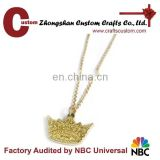 Hot new products for 2015 beautiful Queen crown pendant alloy gold plated crown pendant