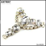Cheap price cute design good quality durable large acrylic rhinestone buckles for school shoes