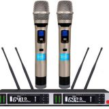 True diversity Wireless 2 Handheld/Clip-on Microphones For Conference Room