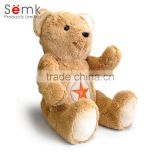 Novelty customized stuffed toys with cotton filling material with zipper plush toys for kids