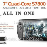 JXD S7800D Game Console player Game 7'' tablet pc android 4.4.2 quad core player gram dual camera IPS LCD MID.