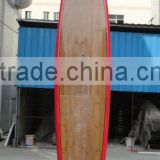 14' SUP Race Paddle Boards AKU Shaping Epoxy Boards Red Rail Bamboo Race Paddle