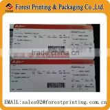 Boarding pass card printing, thermal paper airline ticket