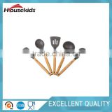 Bamboo and Silicone Kitchen Utensil Set Eco-Friendly