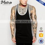 2015 OEM Manufacturer High Quality Custom Longline With Taping Gym Men Vest                                                                         Quality Choice