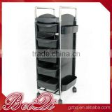 Beiqi Professional Plastic Hairdressing Equipment Salon Trolley with Wheels Hair Salon Trolley