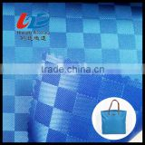 Polyester Doddy Weave Fabric In Mosaic Tile Jacquard Pattern With PU/PVC Coating For Bags/Luggages/Shoes/Tent Using