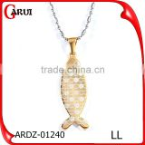 Gold fish shape gold jewelry girl birthday wishes Japanese pendant necklaces
