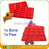 Puppy Dog Bones Silicone Muffin cookies Molds